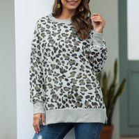 Sweatshirt Women Leopard Crews Neck Shirts Casual Elegant Pullover Tops Fashion Apparel For Women's Hoodies & Sweatshirts