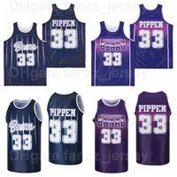 Central Arkansas Bears College Basquete Scottie Pippen Jersey 33 Homens Universidade Hip Hop Hip Hop Respirável Cor Marinho Azul Roxo Puro Algodão Para Ventiladores Esportivos