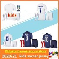 2020 Fransa Çocuklar Chandal Maillot de Foot Francia Enfant Gömlek Kitleri 20 21 Kante Mbappe Pogba Fransız Futbol Formaları Set