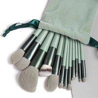Makeup Brushes 13PCS Pro Green Brush Set Powder Eyeshadow Blending Eyeliner Eyelash Eyebrow Make Up Beauty Cosmestic