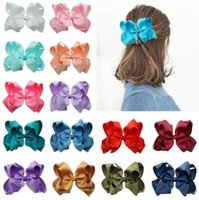 """Hair Accessories Bulk 6.0"""" Double Layers Grosgrain Ribbon Bows Clip Bowknot Hairpins For Baby Girls Birthday Gift 36Pcs lot 25 Color U Pick"""
