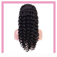 Indian Raw Human Virgin Hair Lace Front 13X4 Wig Deep Wave Lace Front Wig 8-24inch Deep Curly Wholesale