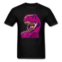 Hip Hop Men T-shirt Dino Frenzy t Shirt Family Round Neck T-rex 3d Printed Clothes Short Sleeve 100% Cotton Unique Top Tshirts [<fmbefx8@16