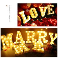 Novelty Items 3D LED Night Lamp 26 Letter 0-9 Digital Marquee Sign Alphabet Light Wall Hanging Indoor Decor Wedding Party