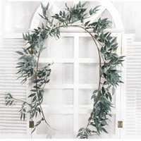 Decorative Flowers & Wreaths Simulation Wicker Green Leaves Decoration Home Garden Plant Rattan For Wedding Party Decorations
