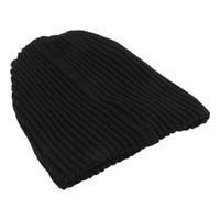 Christmas Decorations Casual Chic Men's Loose Beanie Black Hat Caps Winter Women Skullies Warmth Knitted Beanies Solid Color Oversized 2021