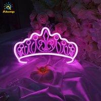 Benutzerdefinierte 3D Neonzeichen Schmetterling Krone Pilz Licht Neons Rohr Dekoration Lichter für Party Mädchen Geschenk Hochzeit Geburtstag Dekor