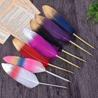 Stylos bille stylos mode plume plume plume peluche mignon pour cadeau de mariage bureau école d'écriture 4YG1