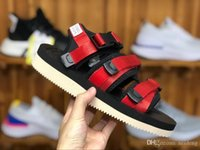 Hot Sale-New Top Quality SUICOKE MOTO VS CAB KAW 18ss Sandals For Men Women Fashion CLOT Slide Black Red Slippers Sandal EkG