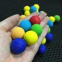 100 pcs espuma bola de espuma Bullets para rival nerf brinquedo arma ao ar livre melhorando prática PU balas redondo para meninos brinquedo balas de pistola FY9381 CO17