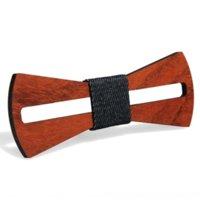 Lvs Hot Hot Men's Ambiental Gravatas Protecon Homens Bow e Ambiental Protecon Collar Handmade Red Flor Pera Sólida Wood Bow Ti