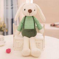 OCDE милый кролик кукла плюшевые животные чучела игрушки для игрушек домашние животные мягкие дети детские игрушки кролика для девочек дети дети дня рождения подарок спальная кукла q0727