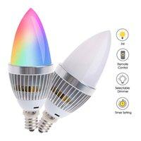3W RGB LED Colorato Colore Colore Cambia lampada a candela lampadina E27 Lampada a risparmio energetico Telecomando Atmosfera dimmerabile
