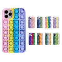 Custodie per cellulari colorate per iPhone 12 Mini 11 Pro XR X XS Max 8 7 Plus Coperchio SLICONE Soft