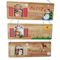 Рождественские украшения Деревянные доски подвесные подвески Дом Декоративные Декоративные Санта-Клаус Рождественские украшения Счастливого года