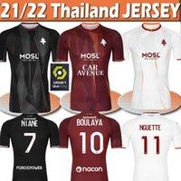 2021 2022 FC Metz Soccer Jerseys Diallo 20 Centonze 18 Vagner 27 Niane 7 Fofana 6 الصفحة الرئيسية 21/22 جيرسي قمصان كرة القدم تايلاند الأعلى