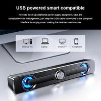 Akıllı Ev Kontrolü USB Kablolu Hoparlör Ses Çubuğu Stereo Bas Subwoofer Ses Aux Surround Kutusu Bilgisayar TV PC Laptop Için 2021