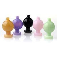 Rauchen Zubehör Glas Bubble Carb Cap mit 5 Güte Farbe Anzug für abgeschrägte Rande Flat Top Quarz Banger Nägel