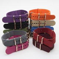 Watch Bands Nylon Strap For Men Women Belt Accessories NATO Solid Color Fashion Watchband 18MM 20MM 22MM 24MM Sport Bracelet