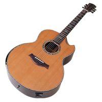 Guitarra eléctrica acústica de alineación completa de alta calidad Guitarra eléctrica acústica Cedar de madera maciza Top de palo trasero de palo de rosa de 40 pulgadas Guitarra popular con ecualizador