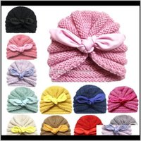Hair Accessories Baby, Kids & Maternity Drop Delivery 2021 Knitted Winter Hat For Girls Candy Color Bonnet Enfant Baby Beanie Turban Hats Bor