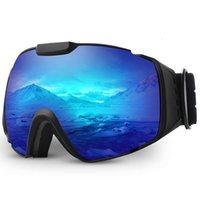 Ski Goggles,OTG Anti-Fog Snowboard Skate Snowmoblie Double Layer Spherical Lens Snow Goggles Men Women M4 201022
