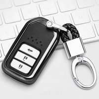 Clé de voiture de voiture à coquille de galvanoplastie TPU avec anneau clé pour Honda Civic Accord Vezel Avancier City Fit Jade Croir Greiz Elysio