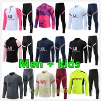 2022 Mens + kids Messi tracksuit football training suit kits 2021 survetement foot soccer tracksuits chandal futbol jersey 21 22 maillot