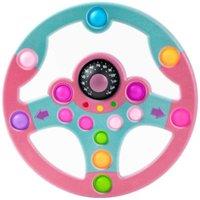 Barn leksak pussel copilot ratt push bubbla dekompression leksak leksaker tablett för barn lärande spel simulering körspel g61ef51