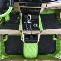 Custom Fit Car Bodenmatte Teppich Spezifisch wasserdichtes Leder umweltfreundliches Material für riesiges Automodell und machen Doppelschichten A07