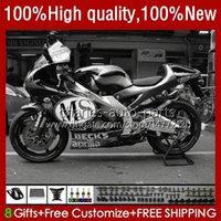 Corpo da motocicleta para Aprilia RS-250 RS RS250R 95 96 97 24no.155 RSV-250 RSV250R RSV250 1995-1997 RSV250RR RS250RR 1995 1996 1997 Fairing Black Grey