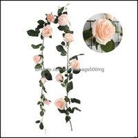 Flowers Wreaths Festive Supplies Home & Garden1.8M Artificial Australian Rose Vine Wedding Ball Party Decorative Flower For House Emational