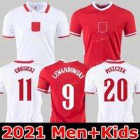 2021 Polonia Soccer Jersey Hogar Atomiendo 20 21 أحمر أبيض ميليك بول Lewandowski Piszczek y الفانيلة Camisetas de Fútbol زي