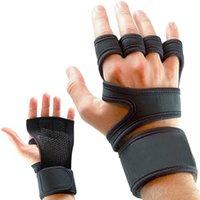 1 пара скольжения спортивных тренажерных залов фитнес перчатки противоудача тяжестей поднятие тренировок перчатки наполовину палец MTB велосипедные перчатки для мужчин женщин 626 z2