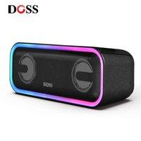 DOSS Sound Pro+ Mini Portable TWS Wireless Speaker Bluetooth True Stereo Deep Bass Subwoofer Music Box Computer