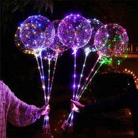300ピースLEDバルーンカラフルなライトボボボール漫画動物の顔ステッカーパーティーの風船夜のライトボールガーデンの屋外ランプライトパーティーウェディングG585oky