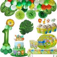 Cheap decorazioni fai da te compleanno giungla baby shower animale palloncini safari jungle tema partito baloon wedding festa decorazione bambino selvaggio