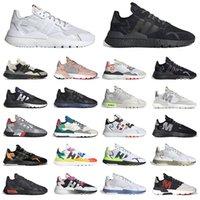 adidas nite jogger 운동화 남성 여성 블랙 조깅 화이트 실버 메탈릭 프라이드 로즈 골드 핑크 반사 xeno 남성 여성 스포츠 스니커즈 트레이너 야외   신발