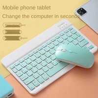 Keyboards Bluetooth Keyboard Android Mobile Phone Flat Panel Portable Wireless Luminous Touch Color Sale
