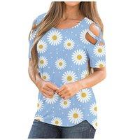 여름 티셔츠 여성 느슨한 반팔 티셔츠 플러스 사이즈 짧은 소매 콜드 숄더 탑 자르기 탑 Camiseta 여성용