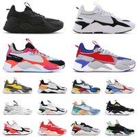 أحذية Puma RS X Retro احذية رجالية Triple Black TROPHY Bright Peach Tracks Sankuanz White Off احذية رياضية رياضية