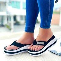 Sandals Platform Wedges Women Color Matching Flip Flop Slippers Female Shoes Fashion Heeled Casual Summer Slides Femme