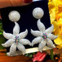 Earrings & Necklace GODKI Luxury 4PCS Sea Starfish African Bridal Zirconia CZ Jewelry Sets For Women Wedding Dubai Nigeria Crystal Party Set