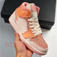페인트 드립 여성 스포츠 신발 화이트 핑크 쿼츠 트레이너 주자 간신히 오렌지 살구 야외 스니커즈 1 미드 밀란 스케이트 신발