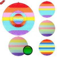 Stock !! 40 cm !!! I giocattoli dei giocatori di grandi dimensioni arcobaleno luminoso del desktop del silicone del silicone del silicone dei giocattoli anti-stress sensoriale del toy board giochi riutilizzabili spremere regali