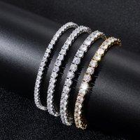 Bracelets Jewelryhip Hop Jewelry Gold Triple Colors 4Mm 6Mm Available Cz Diamond Paved Copper Tennis Chain Bracelet Drop Delivery 2021 Fmrgm