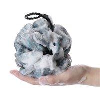 المصنع مباشرة 50 جرام كبير دش الكرة الأسود الدانتيل حمام الكرة 200 شبكة سوبر لينة الاستحمام الكرة حمام فرش الإسفنج scrupers 1204 v2