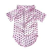 Pequeño perrito abrigo cachorro mascota pijamas negro rosa niñas caniche bichon teddy ropa navidad algodón niño bulldog camisas invierno owe8181