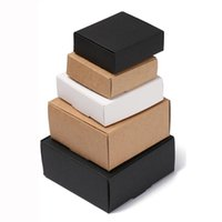 Gift Wrap 10Pcs lot 9Sizes Small Kraft Paper Box Brown Cardboard Handmade Soap White Craft Black Packaging Jewelry