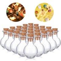 زجاجات زجاجية مصغرة زجاجات الانجراف واضحة زجاجات متمنية صغيرة مع سدادات الفلين لحفل زفاف حزب الجرار الزجاجي